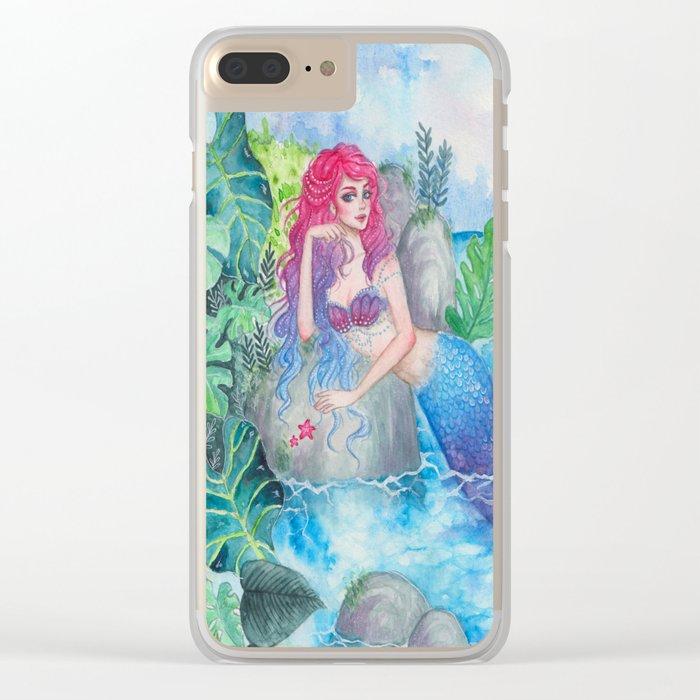 Mermaid Lagoon Clear iPhone Case