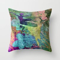 ballet Throw Pillows featuring Ballet by Vitta