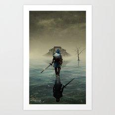 The hardest battle lies within - Version 2 (NEW) Art Print