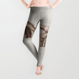THE CREATION OF ADAM - MICHELANGELO Leggings