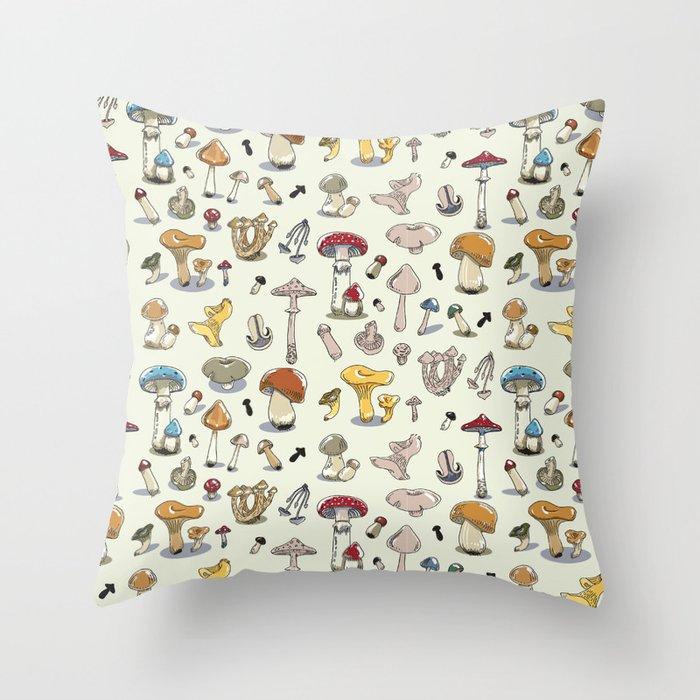 Fungus pattern Throw Pillow