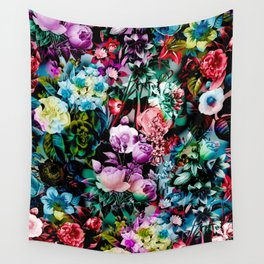 Multicolor Floral Pattern Wall Tapestry