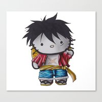 luffy Canvas Prints featuring Luffy by ADCArtAttack
