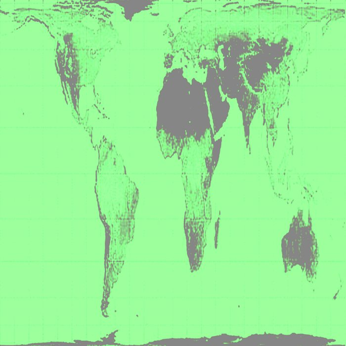 World Map : Gall Peters Seafoam Green Comforters