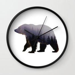 Forest Bear Wild Animal Wall Clock
