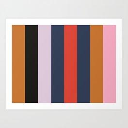 OBLIVION : (O)chre (B)lack (L)avender (I)ndigo (V)ermilion (I)ndigo (O)chre (N)adeshiko Pink Art Print
