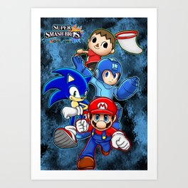Super Smash Bros  Art Print