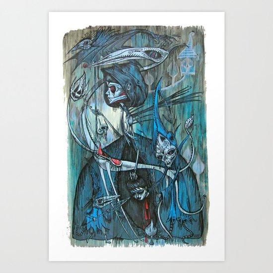 exiled archangels Art Print