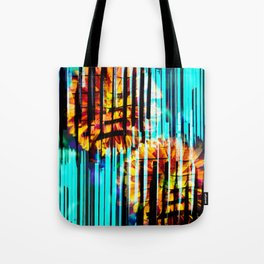 Floral Keys [orange+blue] Tote Bag