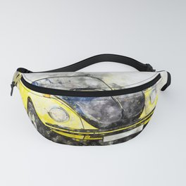Beetle Yellow-Black Racer Fanny Pack