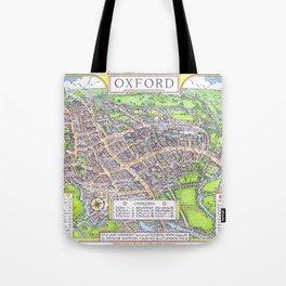 OXFORD university map ENGLAND dorm decor Tote Bag