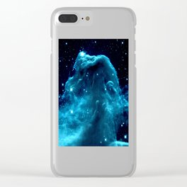 Turquoise Horsehead NeBula Clear iPhone Case