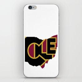CLE, Ohio iPhone Skin