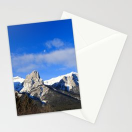 Moon set over mountains. Stationery Cards