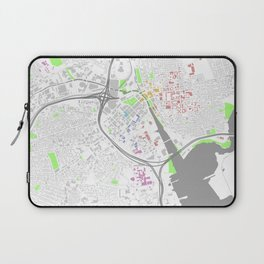 Providence Map Poster Laptop Sleeve