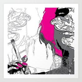 The Smoker #3 Art Print