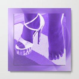 Cinders lost her shoe Metal Print