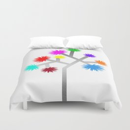 Joshua Tree Pom Poms by CREYES Duvet Cover