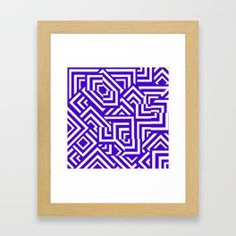 Graphically Purple Framed Art Print
