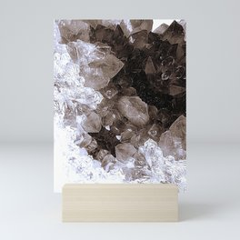 Smoky Quartz Crystal Abstract Mini Art Print
