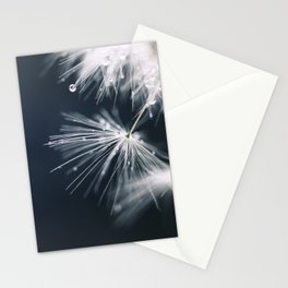 dandelion white Stationery Cards