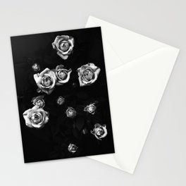 Roses in black and white Stationery Cards