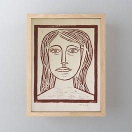 Portrait a La Picasso Framed Mini Art Print