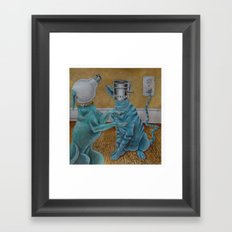 CatDog Framed Art Print