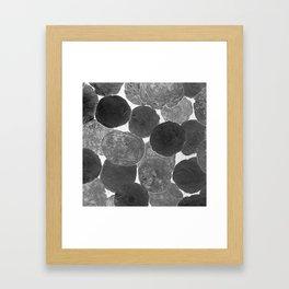 Abstract Gray Framed Art Print