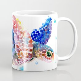 Sea Turtle, blue rainbow Coffee Mug