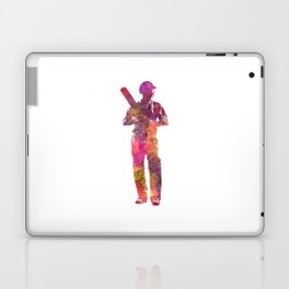 Cricket player batsman silhouette 10 Laptop & iPad Skin