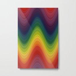 Rainbow Wave Metal Print