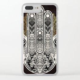 Hamsa on Mandala Clear iPhone Case