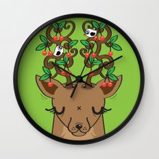 Love with Cherries on Top Wall Clock