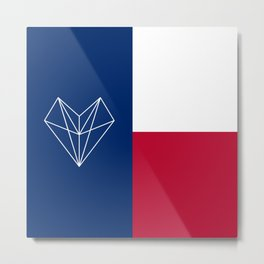 Texas Love Metal Print