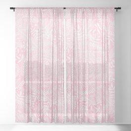 Medallion Pattern in Blush Pink Sheer Curtain