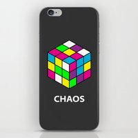 chaos iPhone & iPod Skins featuring Chaos by Dizzy Moments
