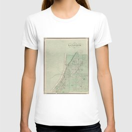 Vintage Map of Lafayette Indiana (1876) T-shirt