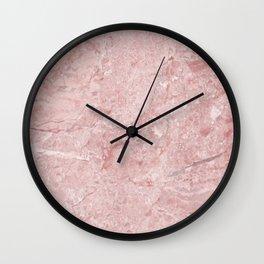 Blush Pink Marble Wall Clock