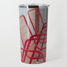 Red Chairs Travel Mug