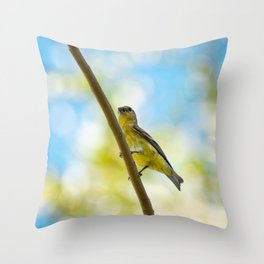 Yellow Bird - III Throw Pillow