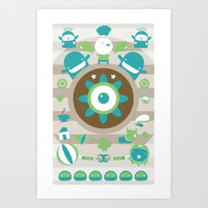 character collage Art Print