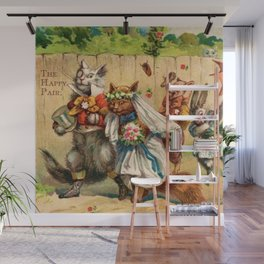 The Happy Pair Cats & Animal Parade Wall Mural