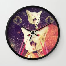 galactic Cats Saga 4 Wall Clock