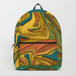 Holographic Abstrac Pattern Backpack