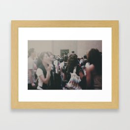 the most famous woman in the world Framed Art Print
