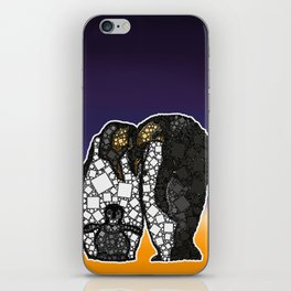 Family First - Penguin Family Snuggle - 57 Montgomery Ave iPhone Skin