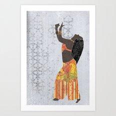 Belly dancer 11 Art Print
