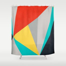 Aggressive Color Block Shower Curtain