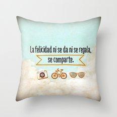 Felicidad - Happiness Throw Pillow